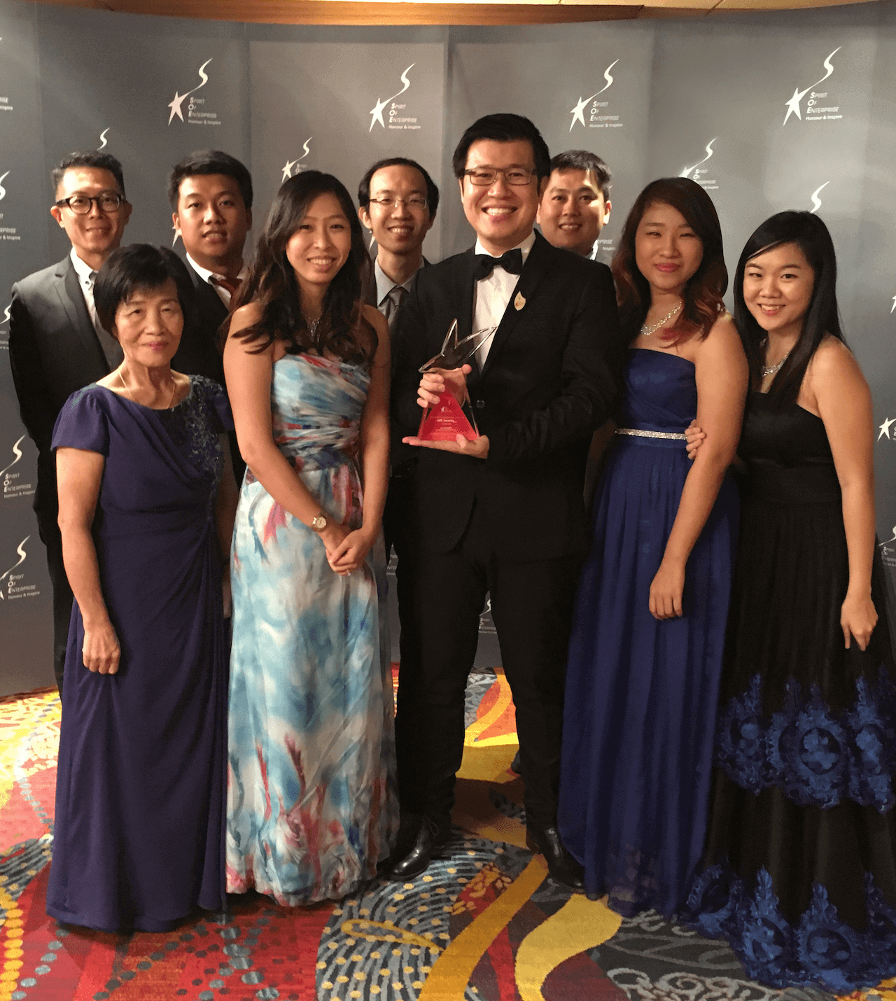 SOE Team Impossible with award